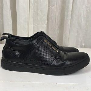 Vintage Armani Jeans Leather Sneaker